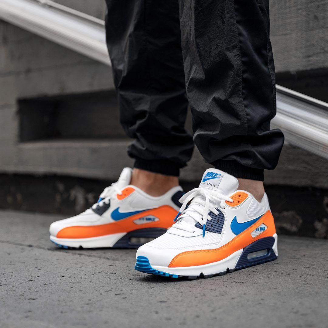 nike air max 90 blau orange