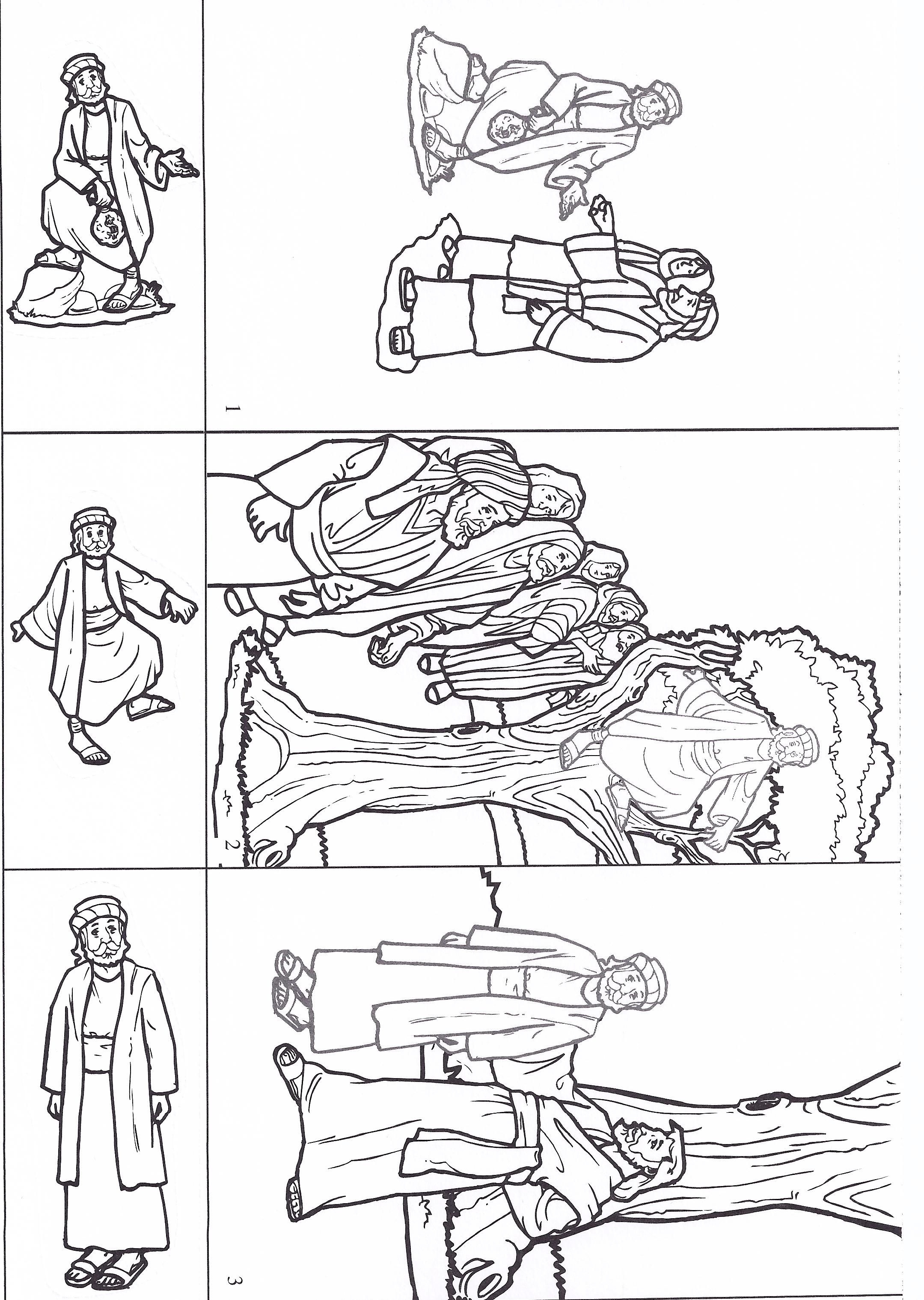 Zacchaeus maira pinte for Zacchaeus coloring pages for preschoolers