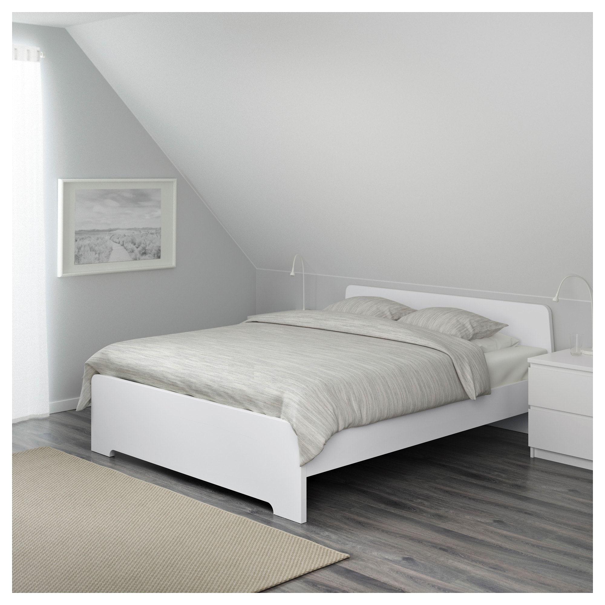IKEA ASKVOLL White, Luröy Bed frame Bed frame, Full bed