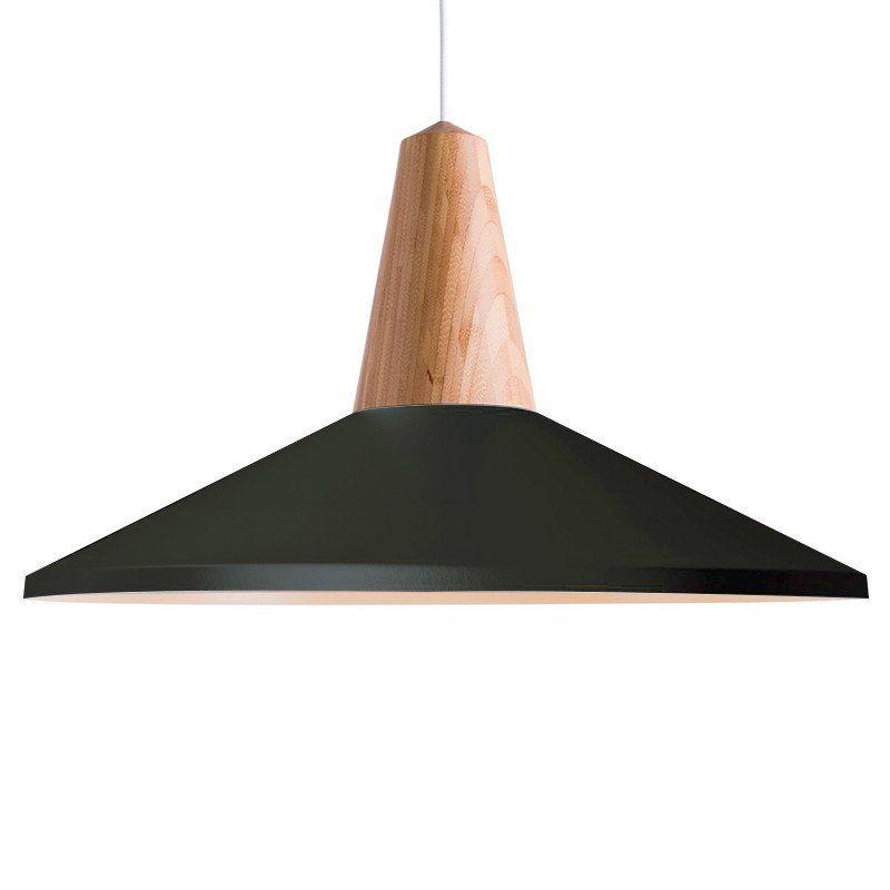 Large Black Minimalist Scandinavian Pendant Ceiling Light Polished Wooden Wooden Pendant Lighting Scandinavian Lighting Scandinavian Pendant Lighting