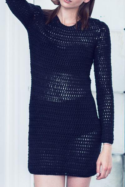 Langarm-Kleid häkeln - kostenlose Häkelanleitung - Initiative ...