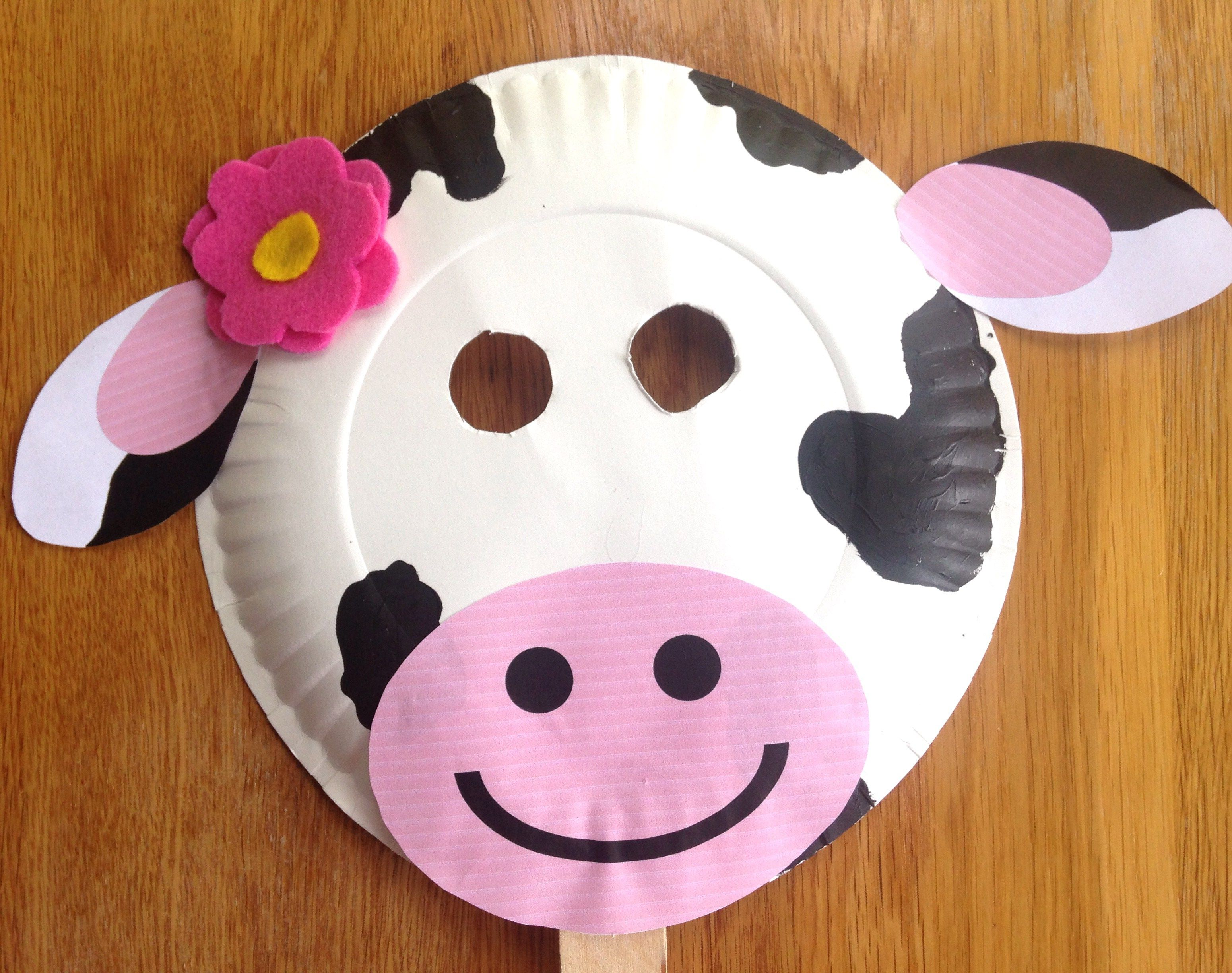 "** 8 x FARM HOUSE FUN 9/"" PAPER PLATES COW PIG BIRTHDAY PARTY CHILDRENS TABLEWARE"