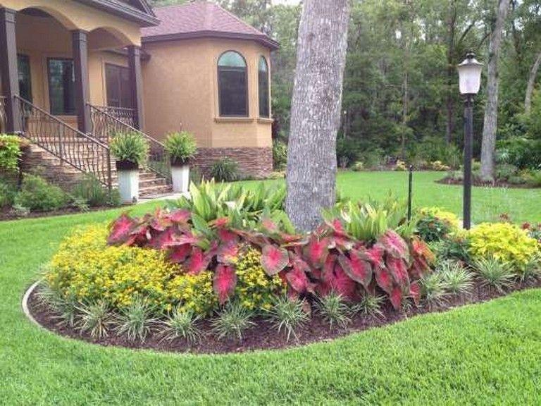 front yard flower bed ideas low maintenance