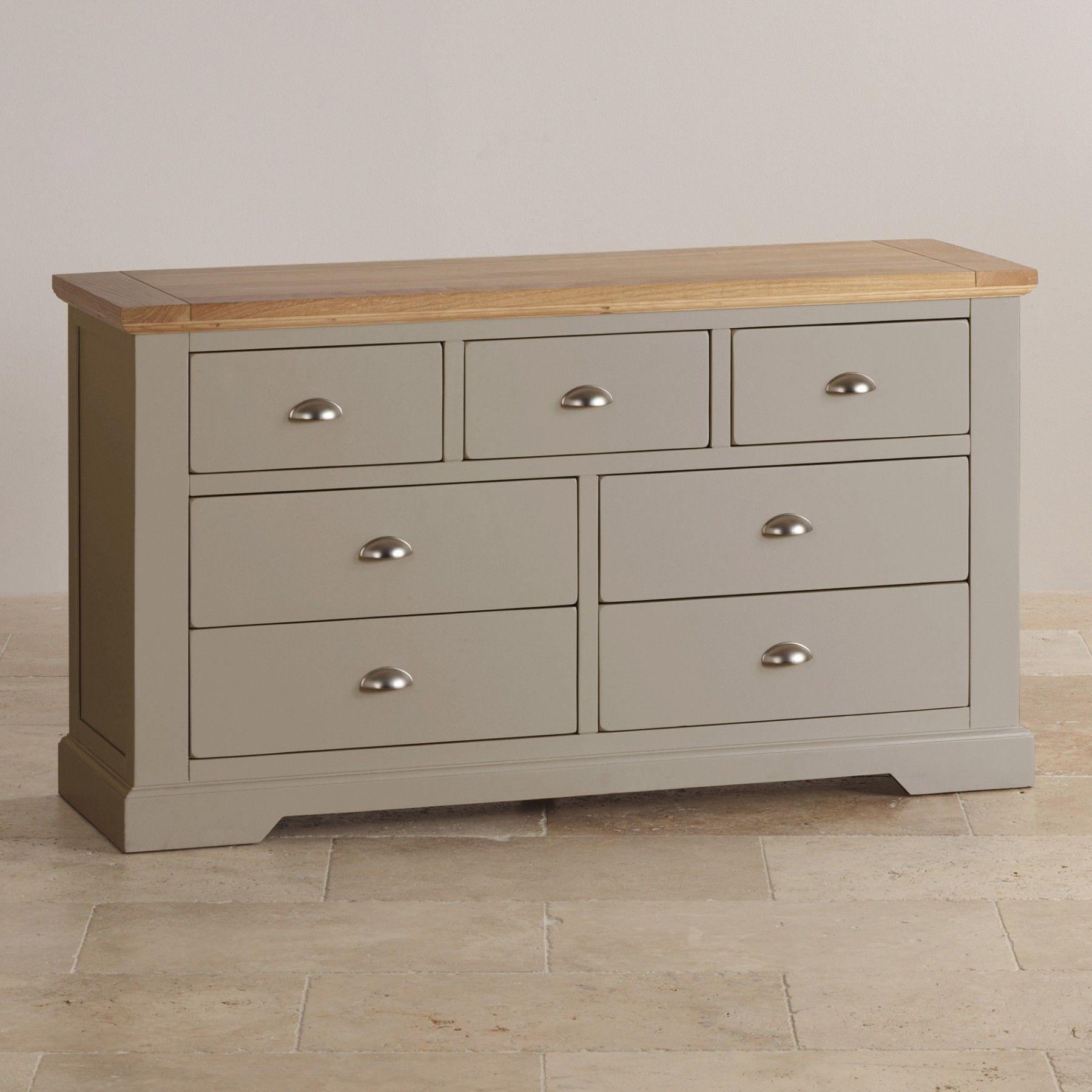 St Ives Natural Oak And Light Grey Painted 3 4 Drawer Dresser Oak Furnitureland Furniture Grey Furniture [ 1800 x 1800 Pixel ]