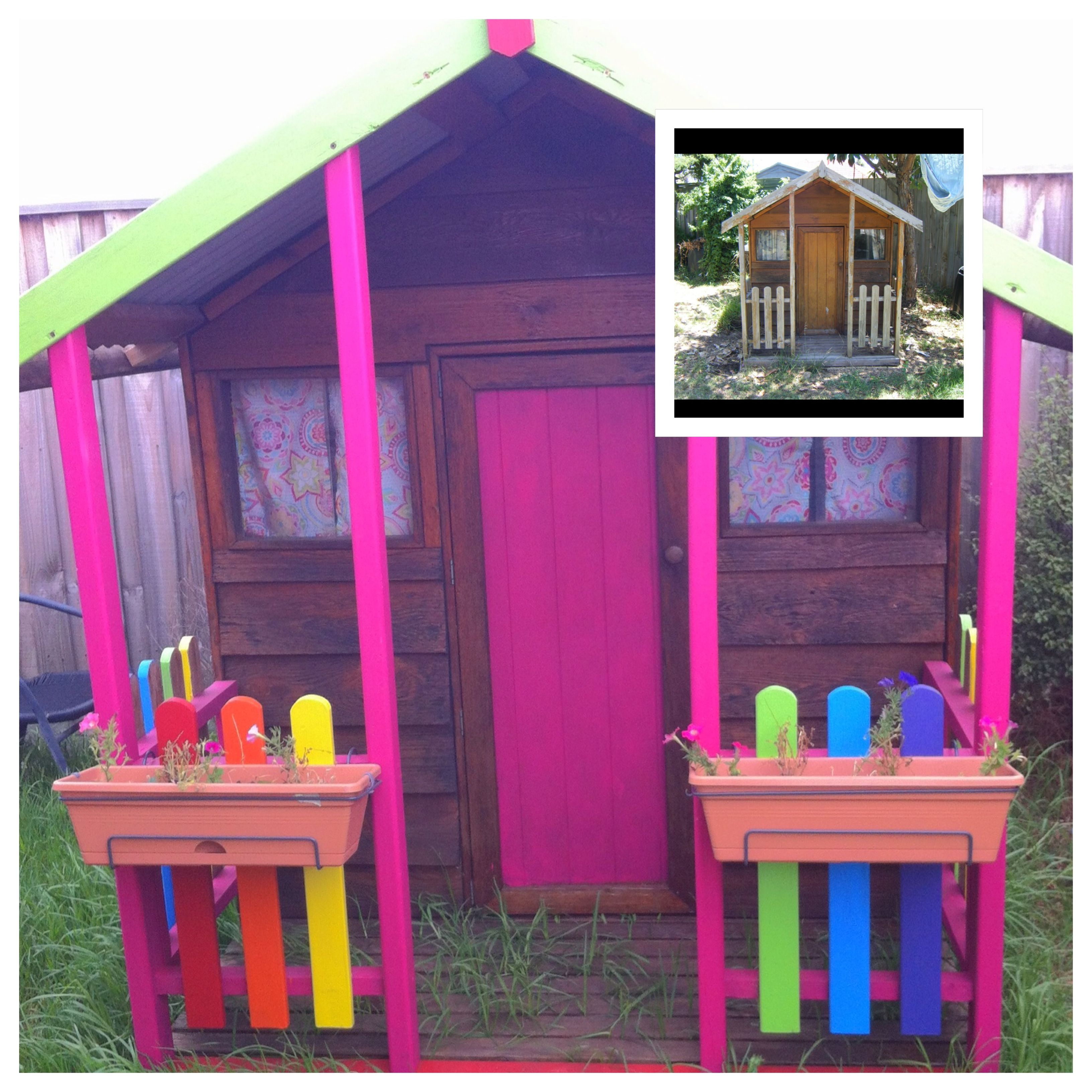 Cubby house makeover. Rainbow colour scheme :-) | Colour Riot ...