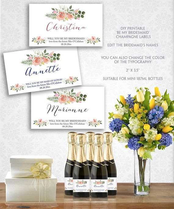 Free Mini Champagne Bottle Labels Template Arts Arts - Mini champagne bottle labels template