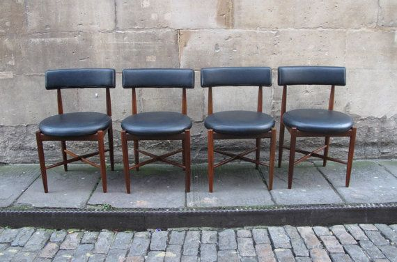 sold a set of 4 g plan dining chairs very stylish design by danish