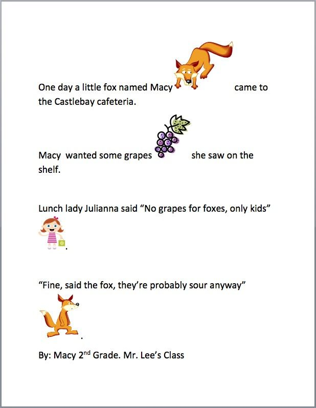 First Grade Narrative Writing Lesson - Fox and Grapes | K-5 Computer
