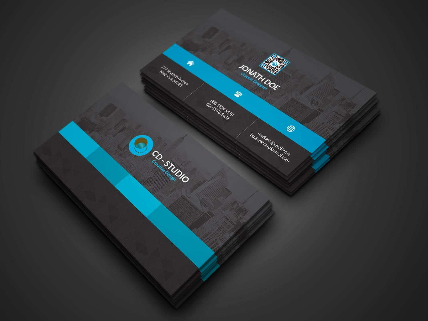 Creative Business Card. Features: Easy Customizable and Editable ...