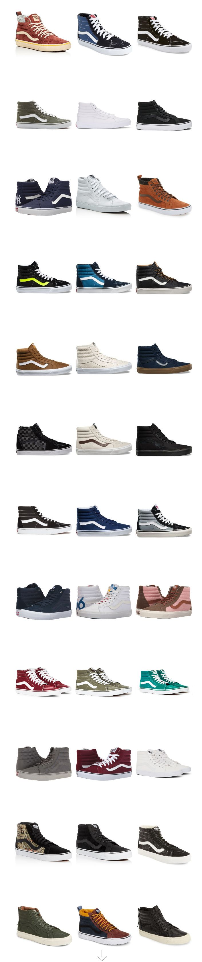 39 Pairs of Vans SK8 Hi Sneakers a big collection with a