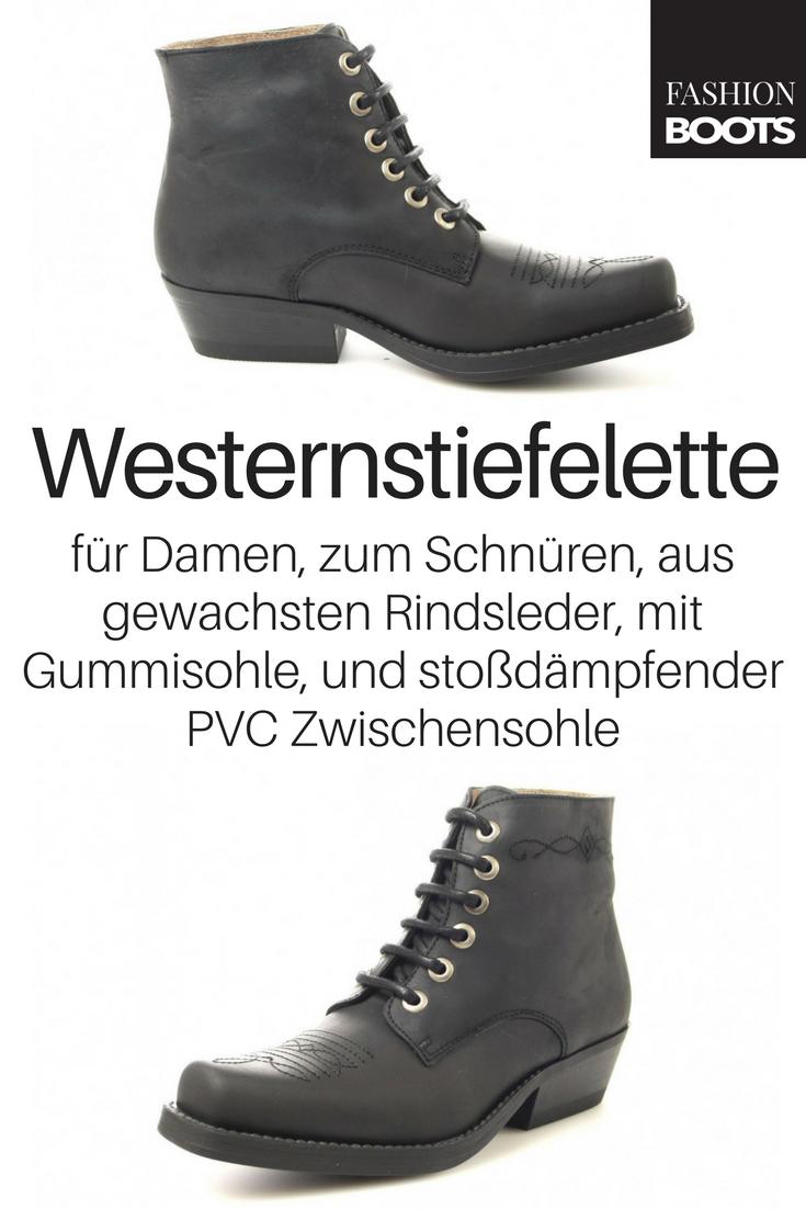 Fashion Boots Fashion Boots BU1010 Black Westernstiefelette
