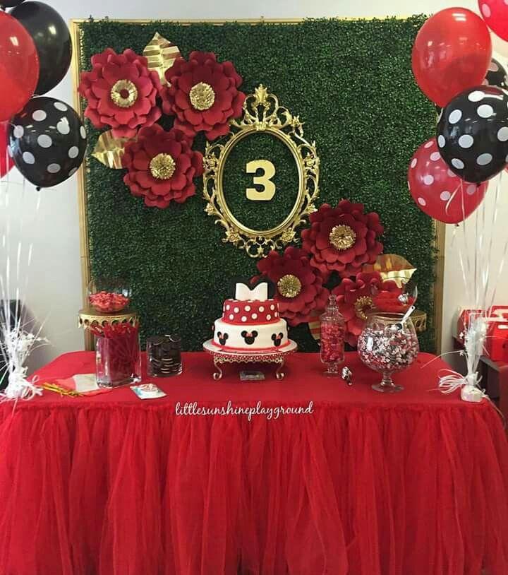 mesas dulces fiestas infantiles fondos flores mickey minnie mouse hora de la fiesta ideas para ideas de cumpleaos ideas de la fiesta