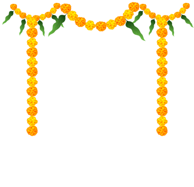 Trujen Png Indian Flower Garland Yellow Decoration Flower Transparent Background Png Images Flower Dec Flower Frame Png Flower Border Png Flower Decorations