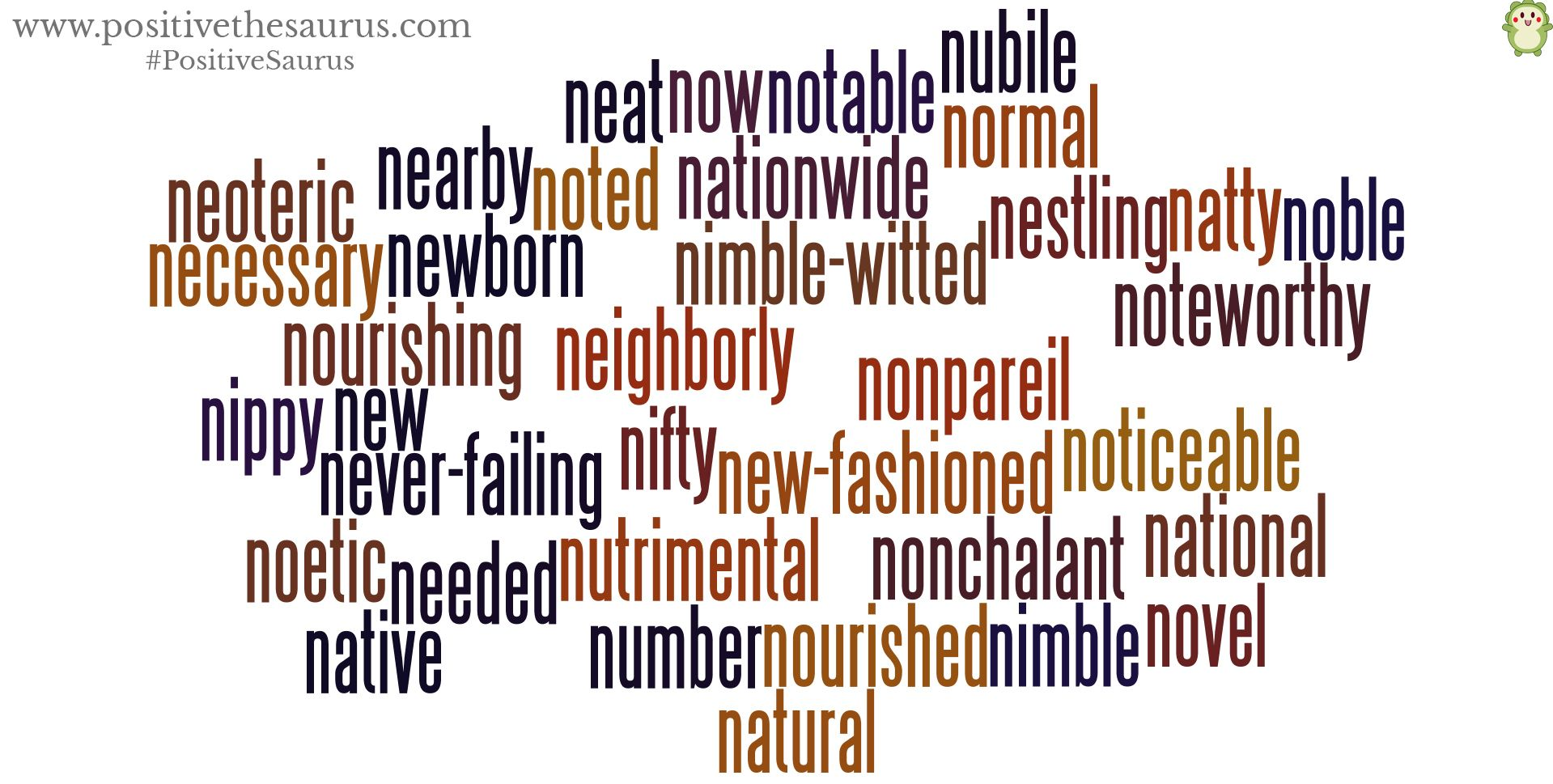 Positive Adjectives Starting With N. Have A Novel Day
