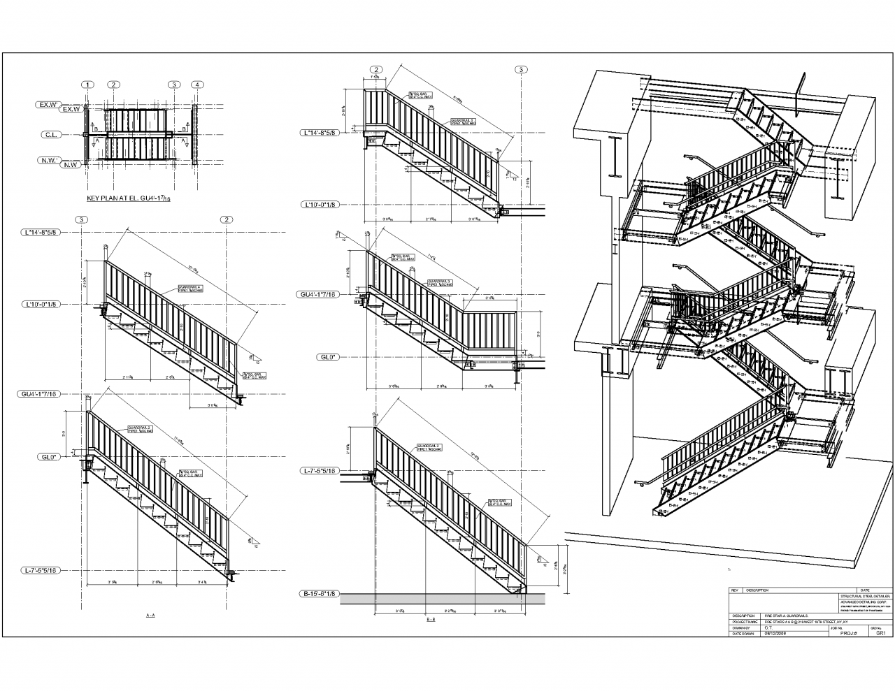 Staircase Plans Drawing Isometric View And Elevations Architecture In 2019