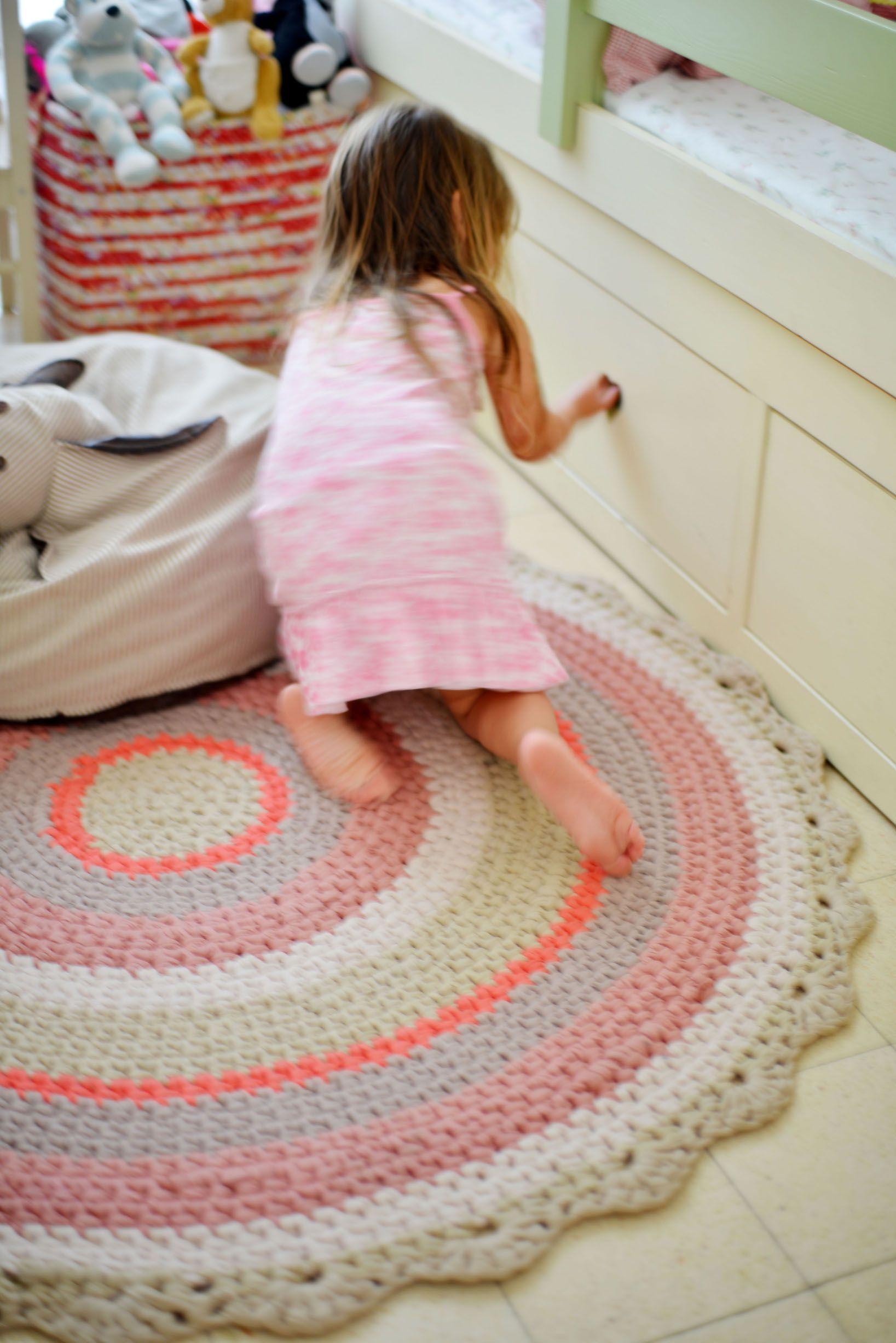 Children Room Alfombra De Ganchillo Alfombras Crochet Alfombra De Trapo