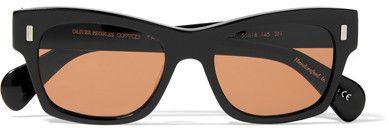 51d65847b07 Oliver Peoples - + The Row 71st Street Wayfarer-style Acetate Sunglasses -  Black