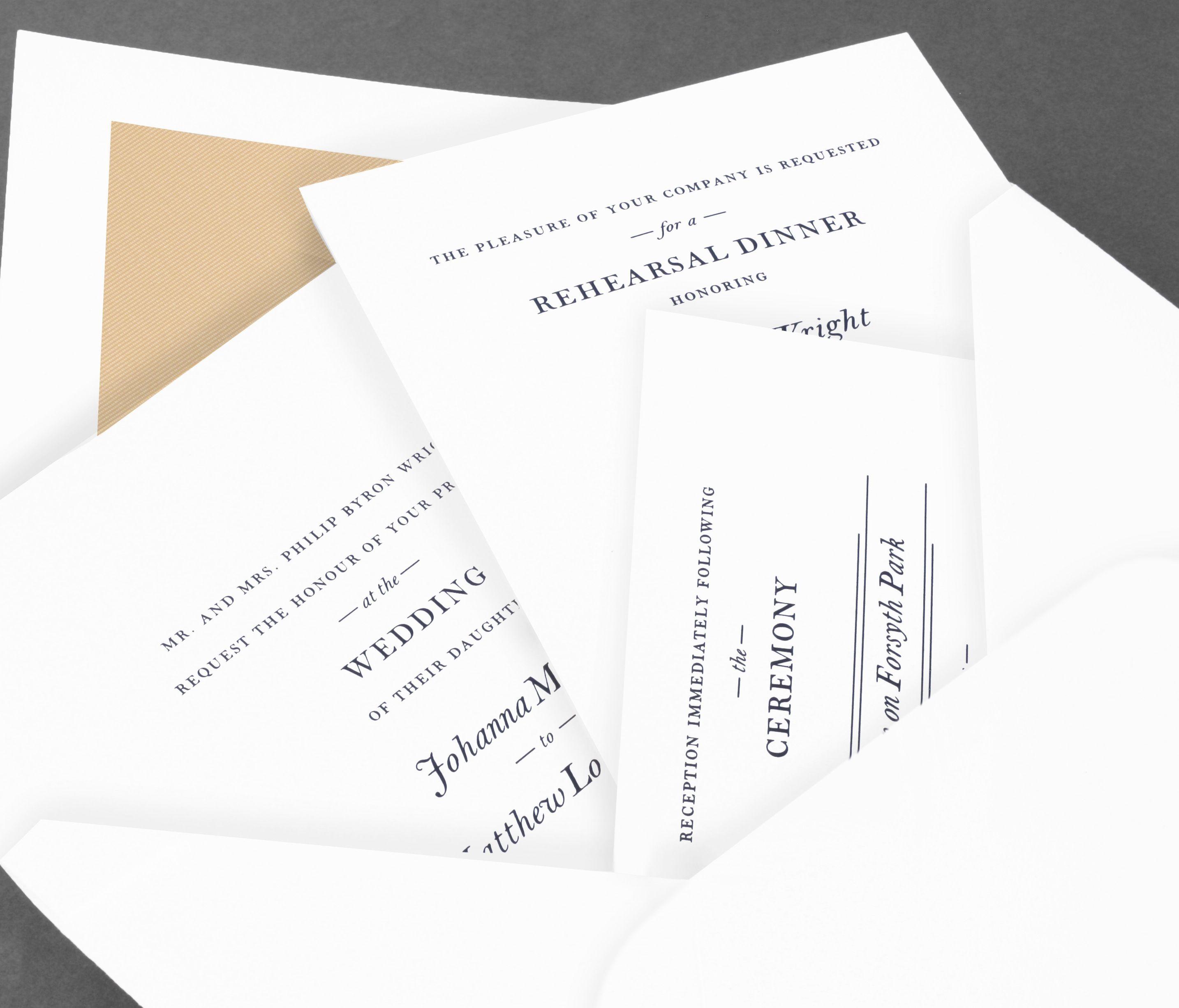 Vera Wang Fluorescent White Wedding Invitation Suite On Cotton Stock