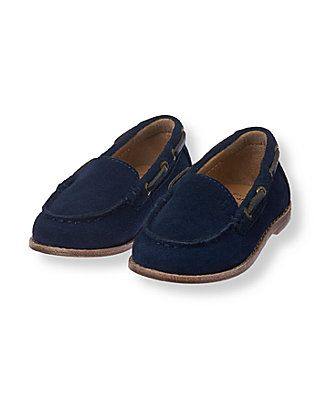 Accessories Navy Suede Loafer by Janie