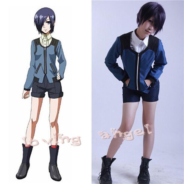 Anime Tokyo Ghoul Kirishima Touka Uniform Cosplay Costume