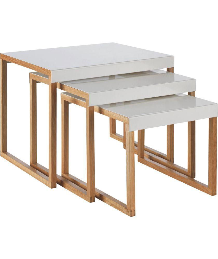 Buy Habitat Kilo Nest Of 3 Tables White Nest Of Tables White