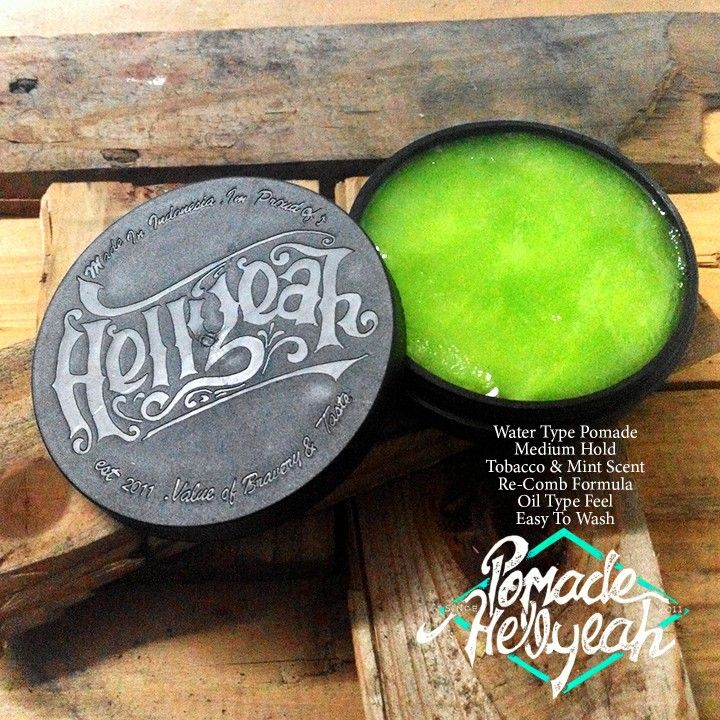 Hellyeah Waterbased Pomade Medium Hold Re Comb Formula Tobacco Mint Scent Oilbased Feel Long Lasting Barberos No Disponible