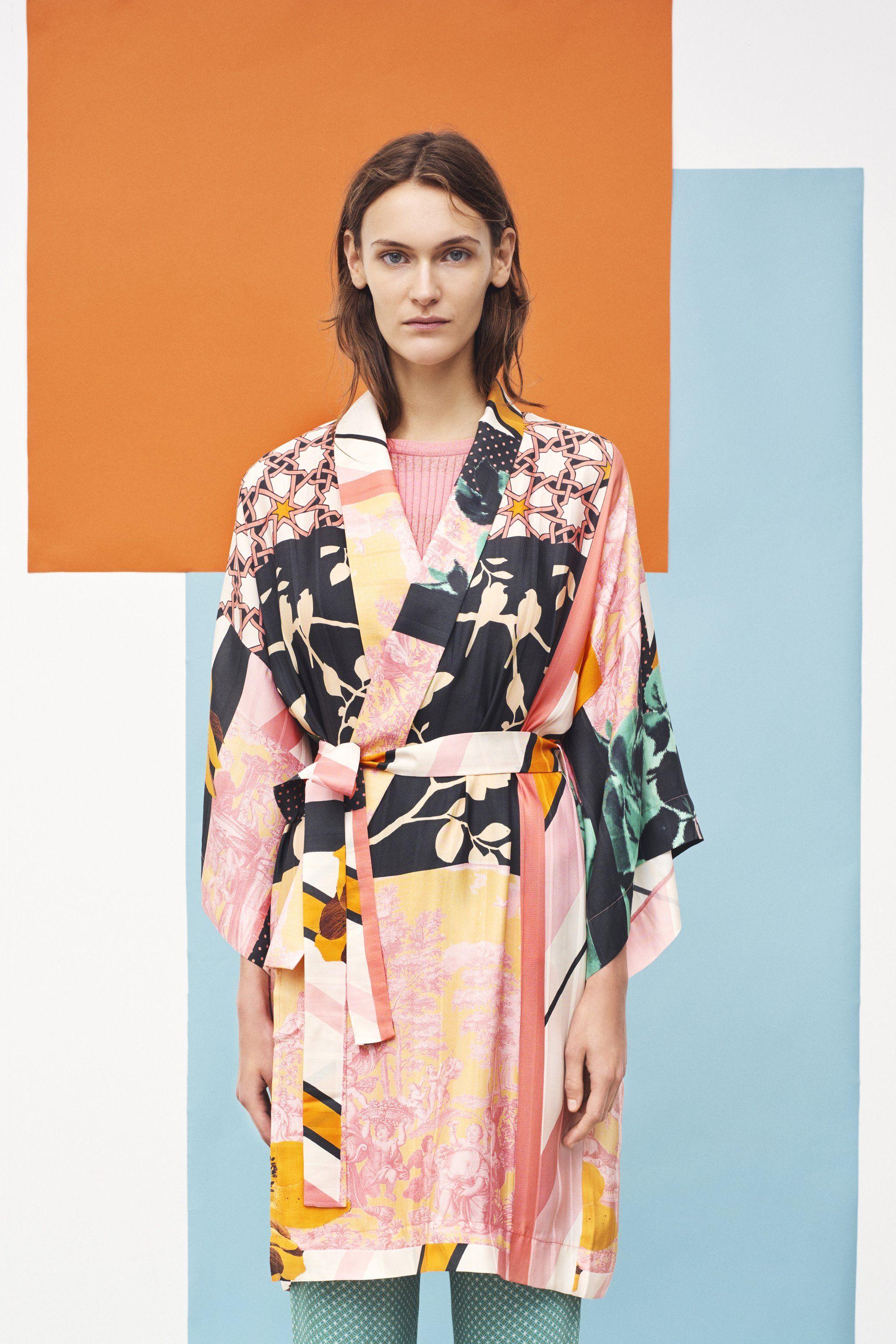 5e039184641 Stine Goya Naty Kimono Dress 1426 Collage Colours   wants in 2019 ...
