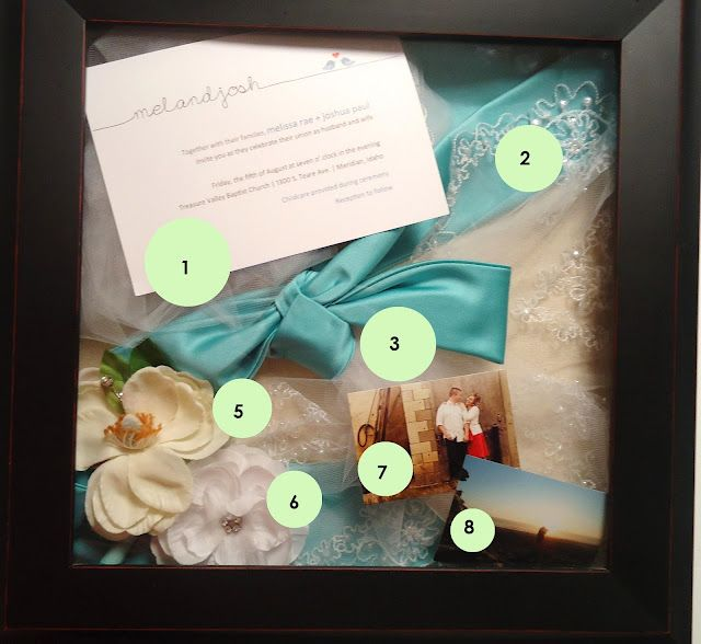 Wedding shadowbox!