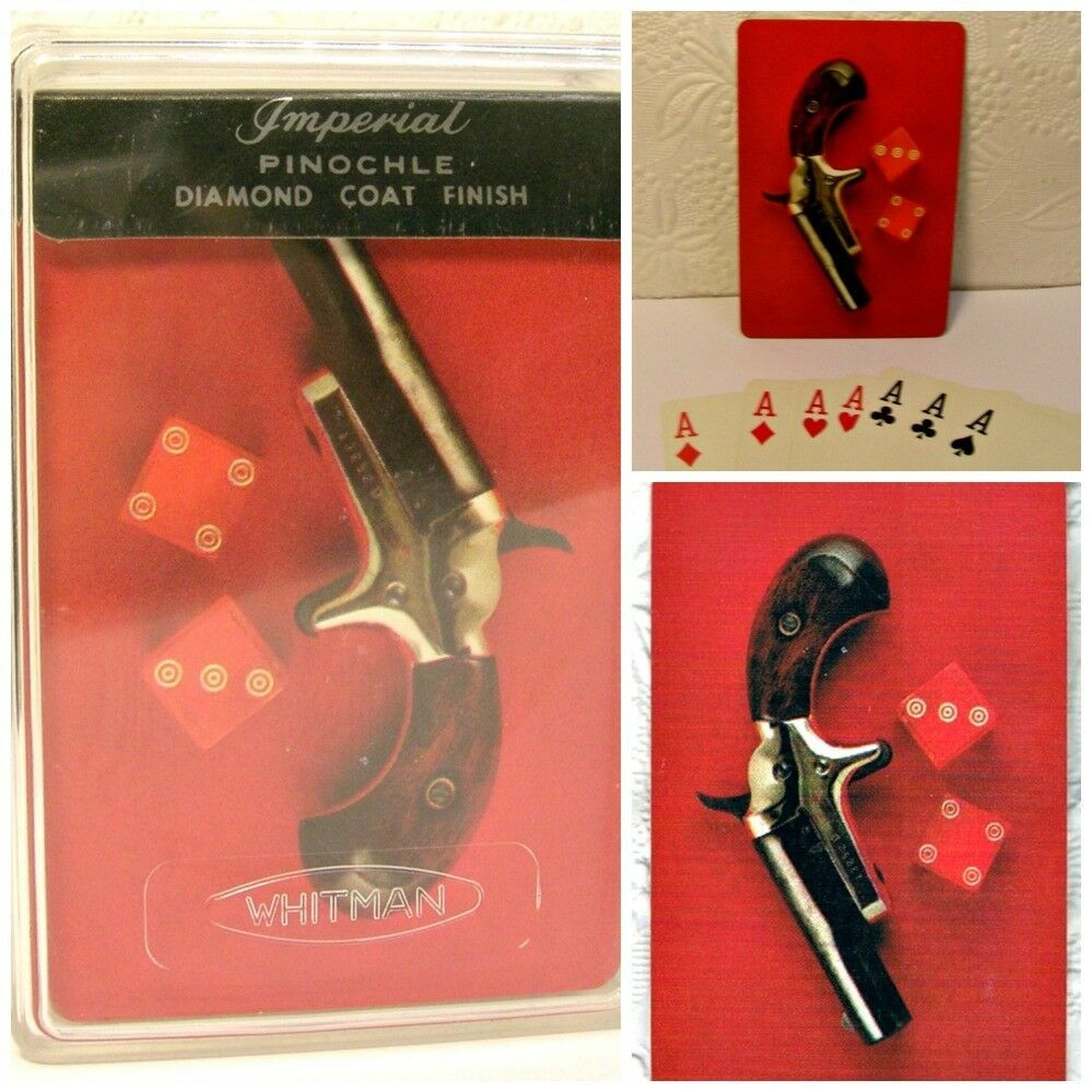 Vintage Whitman Imperial Pinochle Cards Pistol and Dice