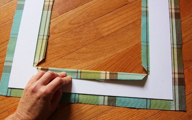 How To Create A Custom Mat With Fabric Frame Crafts Picture Frame Mat Photo Matting