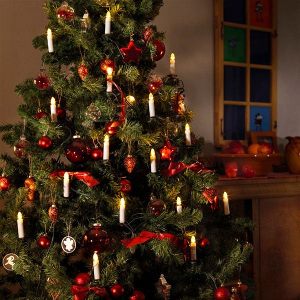 christmas tree candle lights cerca con google