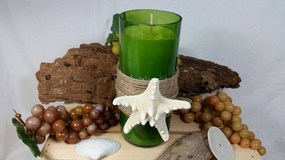 Beach Starfish Decorative Recycled Wine by TeaLightedTeacups
