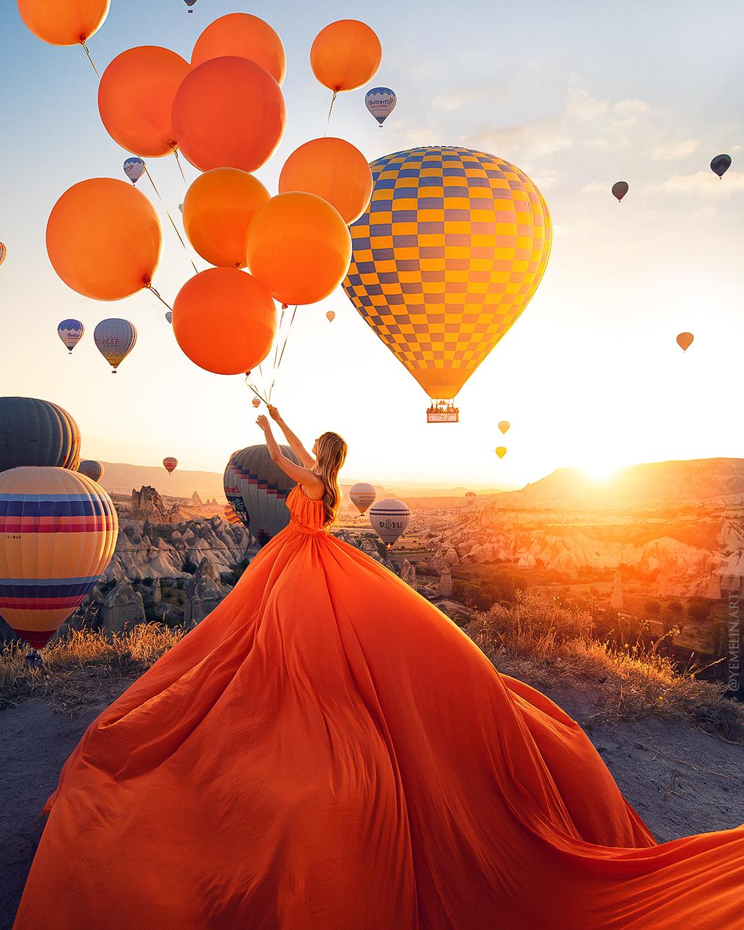 Big Balloons Cappadocia | Balloons photography, Fairytale photography,  Photoshoot poses