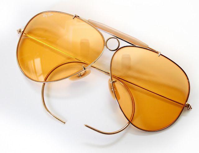 cff72c1d8f Vintage B Ray-Ban Ambermatic Bullet-Hole Shooter Aviator Sunglasses 62mm