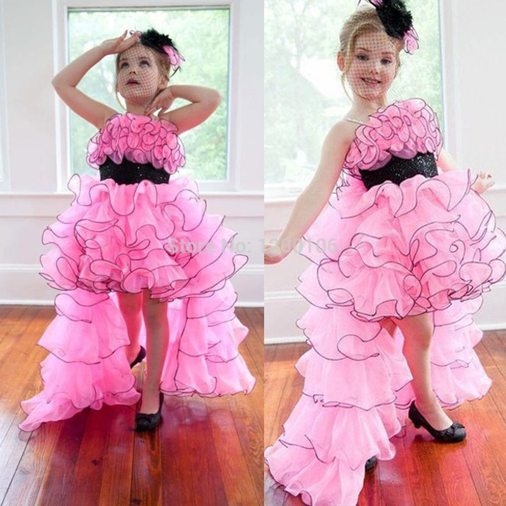 Free shipping buy best adorable jewel ruffletieredsash high low