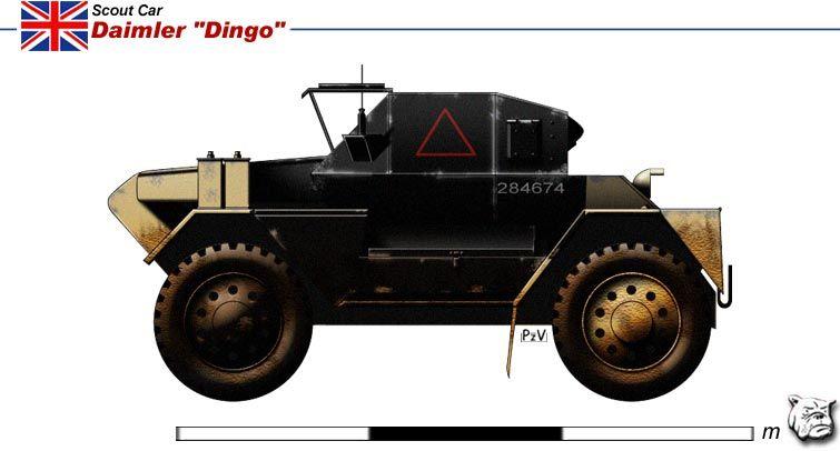 Daimler Scout Car Dingo Vehicule Militaire Memoire 44