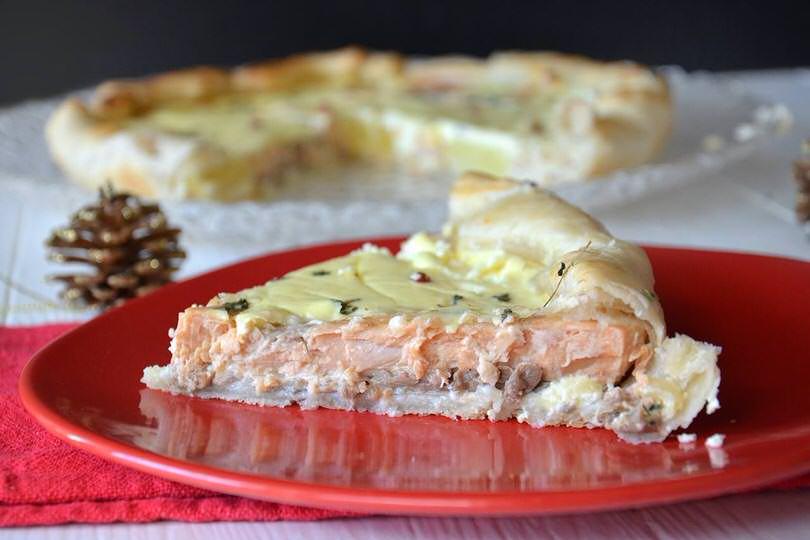 Ricetta Quiche Misya.Torta Salata Al Salmone Ricetta Ricette Idee Alimentari Ricette Di Cucina
