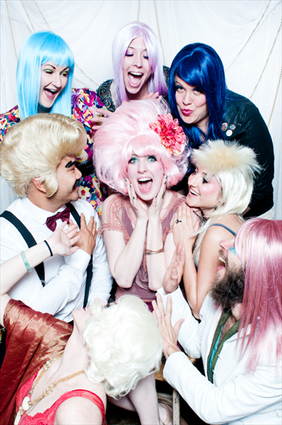 wigs and wine party