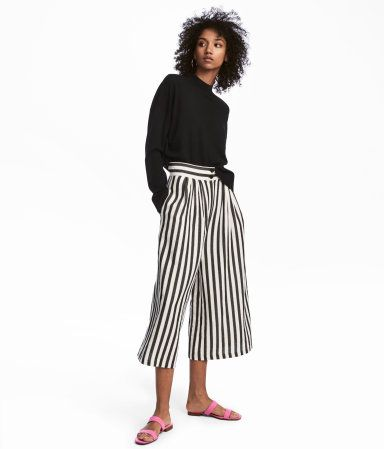Black white striped. Wide-leg f17ee3bdb196e