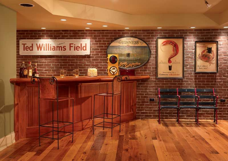 Lovely Basement Brick Accent Wall, Really Loving This For A Family Room  Downstairs! When I