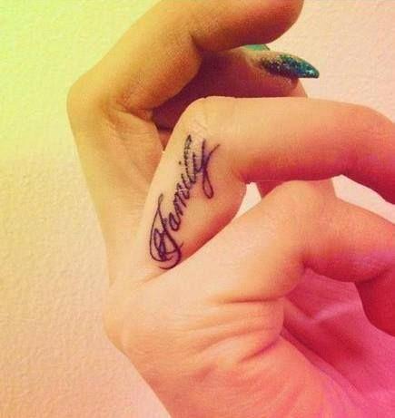 Family Tattoo Patricia Pinterest Tattoos Finger Tattoos Y