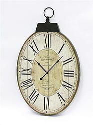 Oval Beige MDF Clock - $62.49