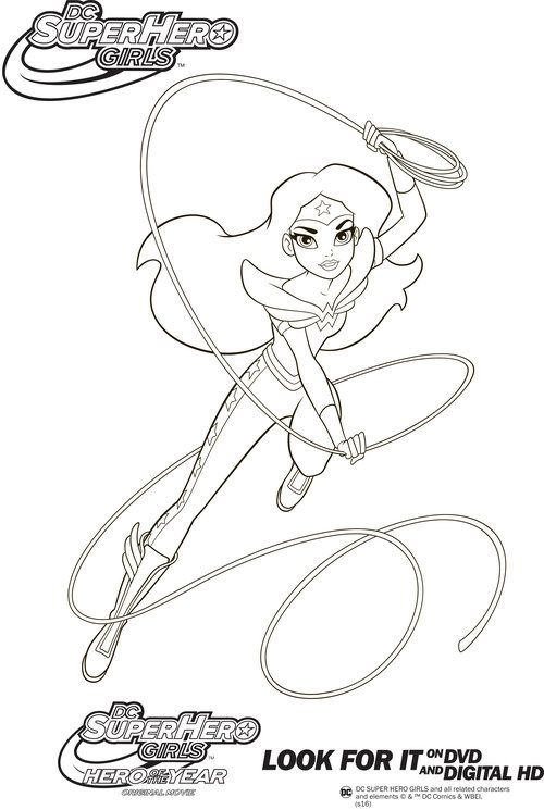 Dc super hero girls coloring pages