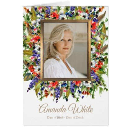 Funeral Thank You Note Card Forest Florals - floral gifts flower