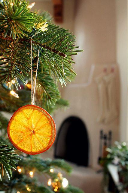 how to make dried orangeaments via Hope and Honey