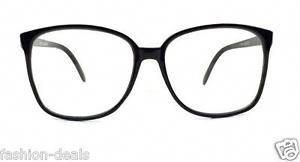 f7d961acbe8a6 Retro-Vintage-Huge-Big-Oversized-Square-Black-Frame-Women-Men-Eyeglasses-Glasses   MiuMiu