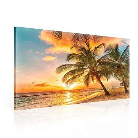 Strand Palmen Tropisch Sonnenuntergang - Bilder Strand Meer bilder