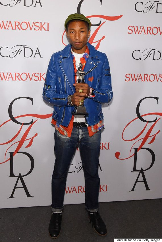 c35ced82f736 Pharrell Williams Shows Up In Jeans To Be Honored As A Fashion Icon At The  CFDA Awards