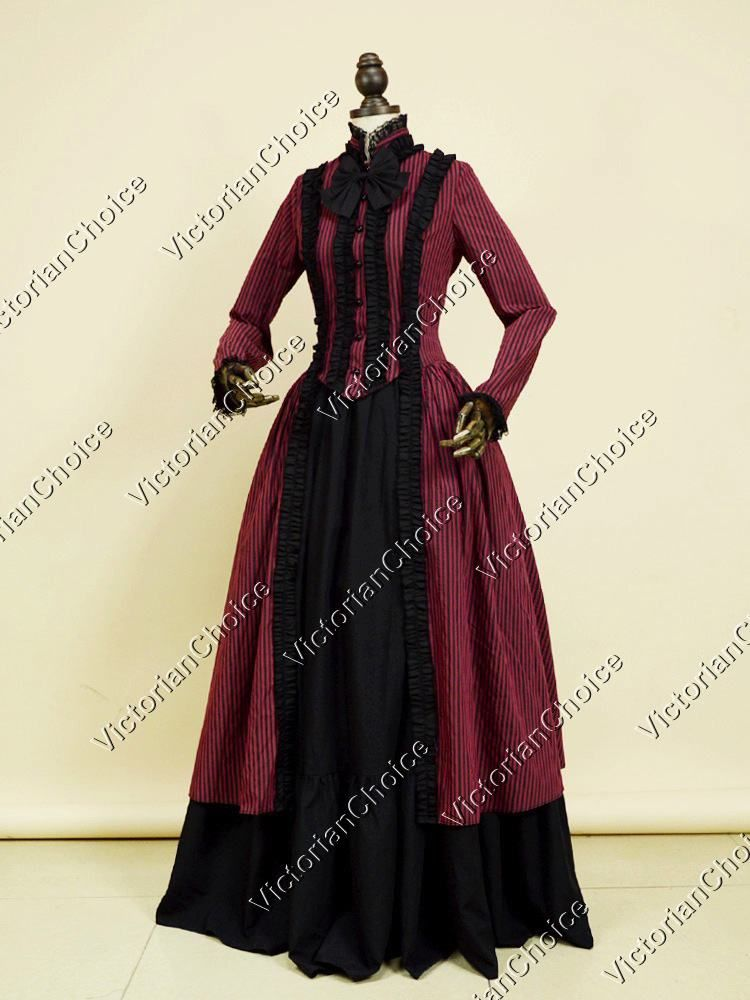 Gothic Victorian Dress Penny Dreadful Dark Witch Gown Vampire Adult ...
