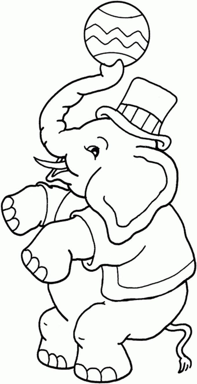 Circus coloring pages  Kinderfarben, Zirkus kunst, Malvorlagen